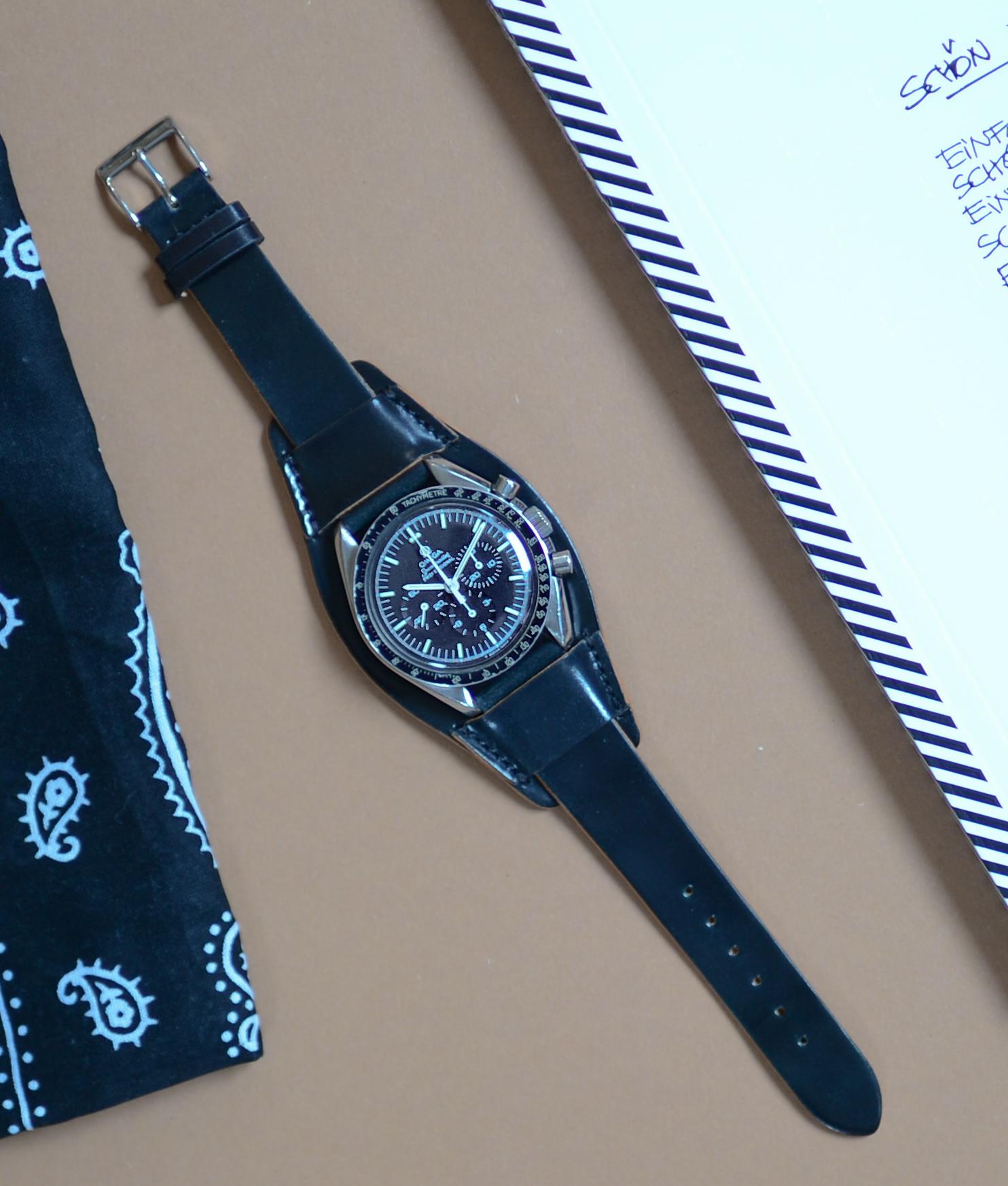 Heritage, Cordovan, vintage, used, handmade, germany, watchstrap